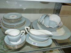 A Royal Worcester Woodland six setting dinner service, dinner, side, soup plates,