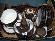 A Hornsea 'Contrast' 1978 part Dinner service to include three tureens,