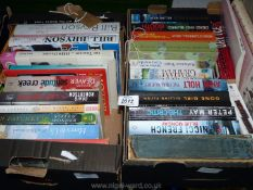 Two boxes of books to include Nicci French, Bill Bryson, Andrew Gross etc.