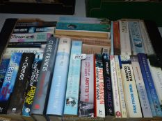 A box of novels to include Jeffery Deaver, Stephen White, Clare Francis etc.
