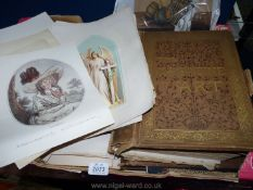 A box containing quantities of The Magazine of Art, loose etchings and pictures, etc.