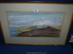 A framed and mounted Watercolour signed lower right Anthony Kerr titled 'From Anelog The Lleyn