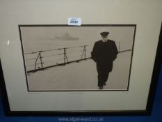 """A 1941 photograph """"Churchill - On The Brink"""", Mark Reuben vintage collection."""