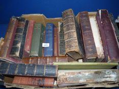 A box of books to include British Battles Vol., Corn Hills Magazine Vol.