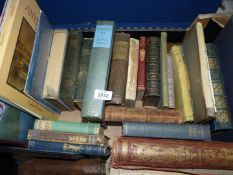 A box of books to include Pictures from Punch, Sherridan's Dramatic Works and Life,