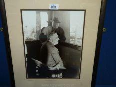 "A 1943 photograph ""Churchill and Roosevelt"", Mark Reuben vintage collection."