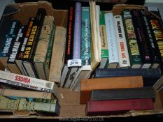 A box of books to include Andy McNab, Forgotten Voices Max Arthur, Letters to Strongheart etc.