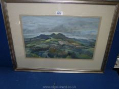A framed and mounted Watercolour, no signature visible,
