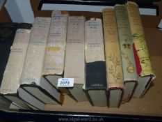 Volumes of The Second World War and The History of The English Speaking People by Winston Churchill.