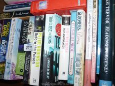 A box of novels to include Stephen Booth, Peter May etc.
