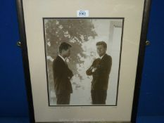 "A 1963 photograph ""The Kennedy's"", Mark Reuben vintage collection."