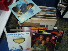 A crate of L.P.'s to include Nat King Cole, Dean Martin, Woody Herman, etc.