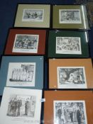 ''The British Character'' by Pont, eight framed Punch cartoons.