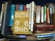 A box of books to include Locomotion, Kings and Queens, Christian Jacq novels, etc.