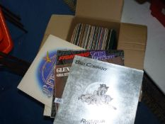 A box of L.P.'s to include Bad Company, Thin Lizzy, Bee Gees, etc.