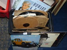 Albums from Max Boyce and Howard Keel and a quantity of 78's.