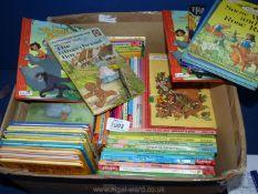 A quantity of Ladybird books.