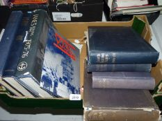 Six volumes of Jane's Fighting Ships and one Jane's All the Worlds Aircraft 1945-1946.