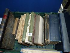 A crate of books to include Ocean Passage for The World 1950,