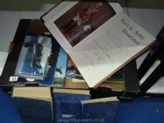 A box of books to include three volumes of Manual of Seamanship 1951, Navy and Army Illustrated,