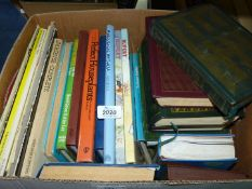 A box of books including Rupert Annuals, House Plants, Readers Digest, etc.