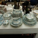 A haddon blue and white dinner set