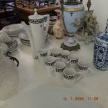 A Portmerian coffee set,