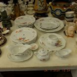 A Rosenthal floral decorated porcelain part dinner set