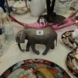 A Coalport elephant