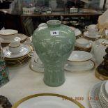 An oriental green vase