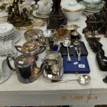 A small quantity of silver plate