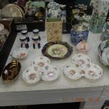 An assortment of china including Beswick,