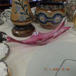 A vintage Murano glass bowl