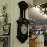 A fine quality carved oak barometer