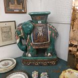 A porcelain elephant