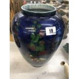 A 1920's Adderley Holly hock vase