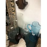 A collection of assorted glassware and vases etc