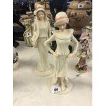 Two porcelain decorative figures