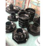 A black part tea set
