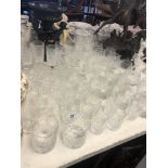 A quantity of assorted crystal glassware