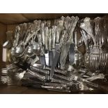 A twelve place setting of Kings pattern cutlery