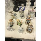 An assortment of early figures