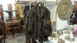 A vintage mink ladies fur jacket,