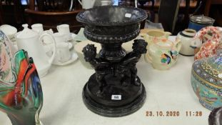 A marble and bronze centre piece,
