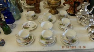 A Regency bone china tea set,
