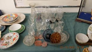 A qty of glassware