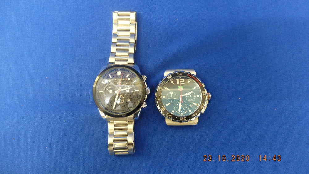 Two designer style watches