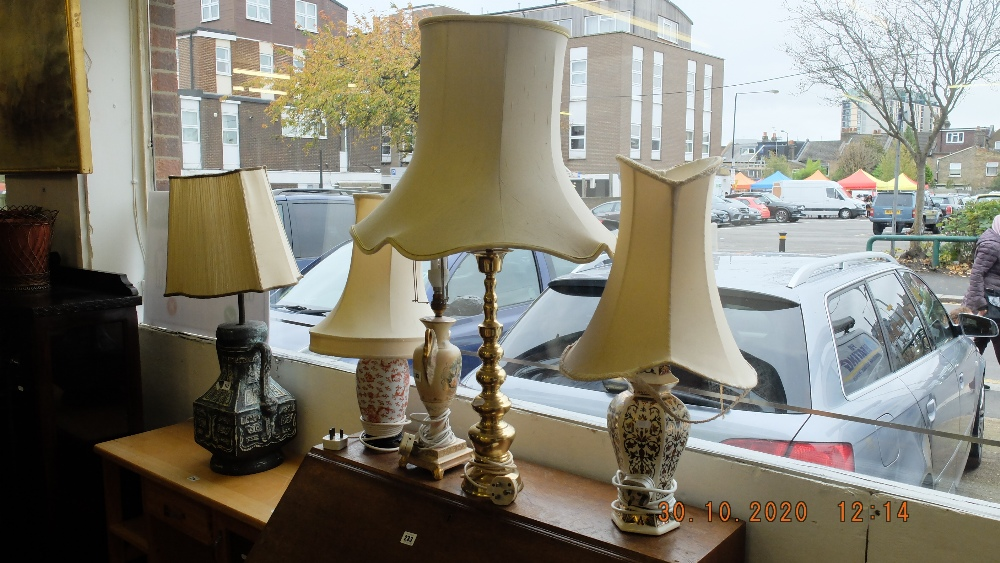 A qty of lamps etc.