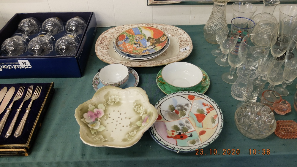A qty of china, oriental duos etc.