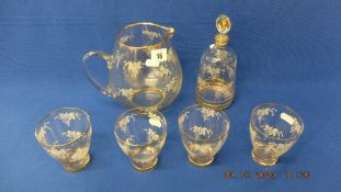 A small qty of glassware, inc.
